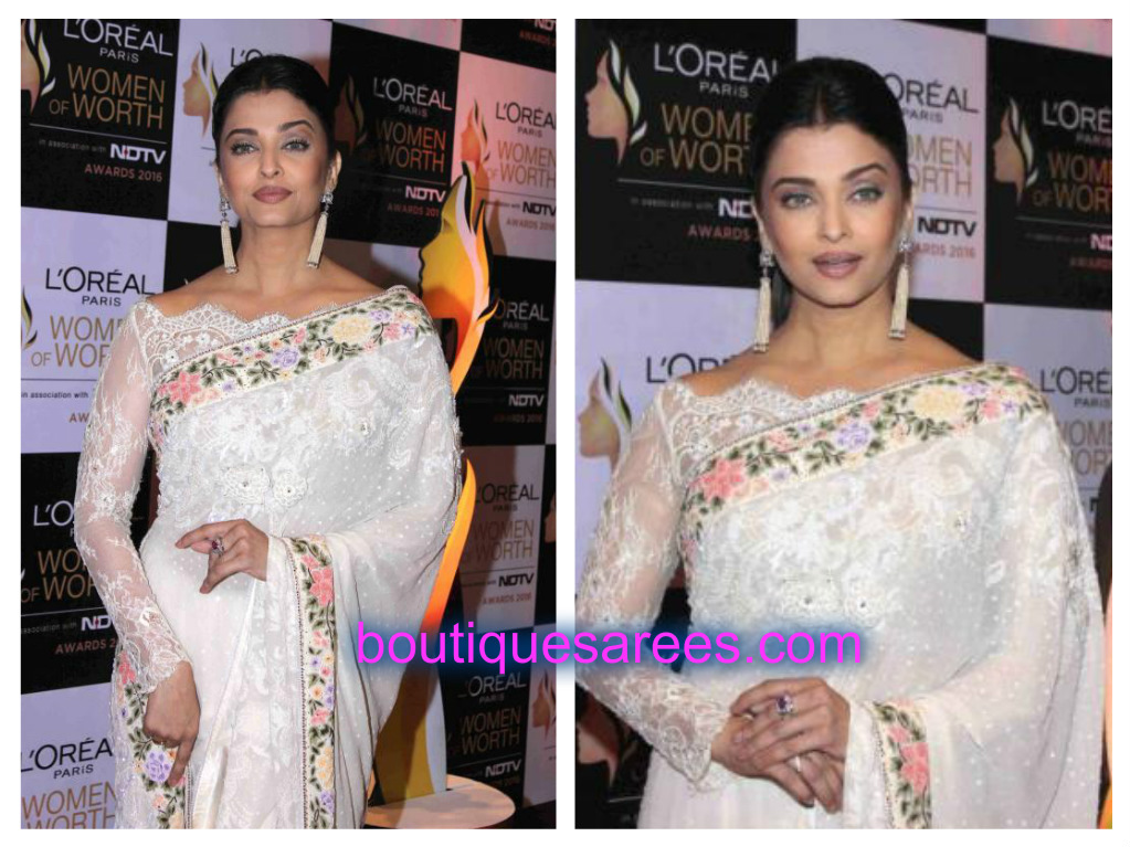 aish in white sares