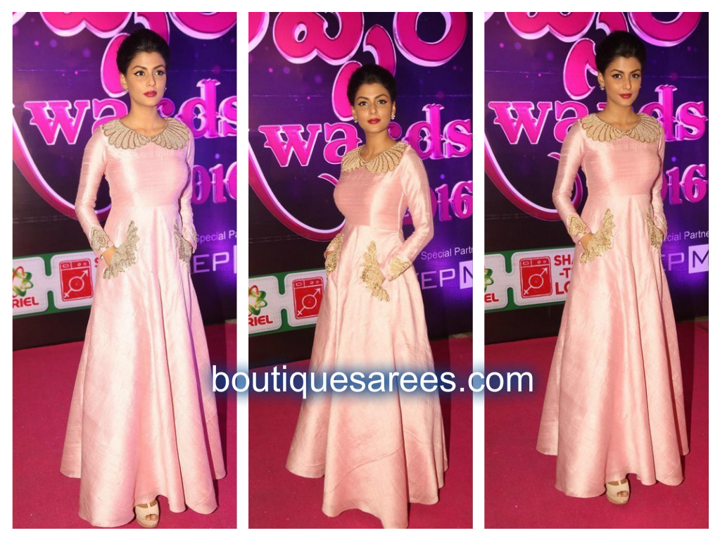 anisha in pink dress