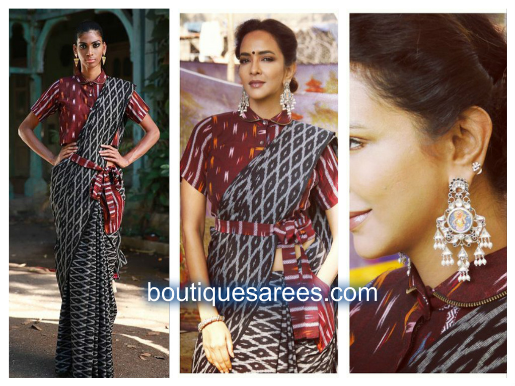 lakshmi manchu in black saree