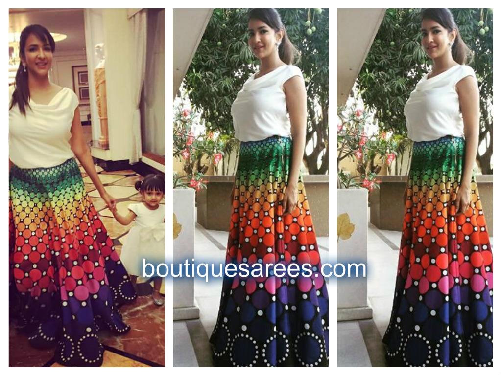 lakshmi manchu in polka dress