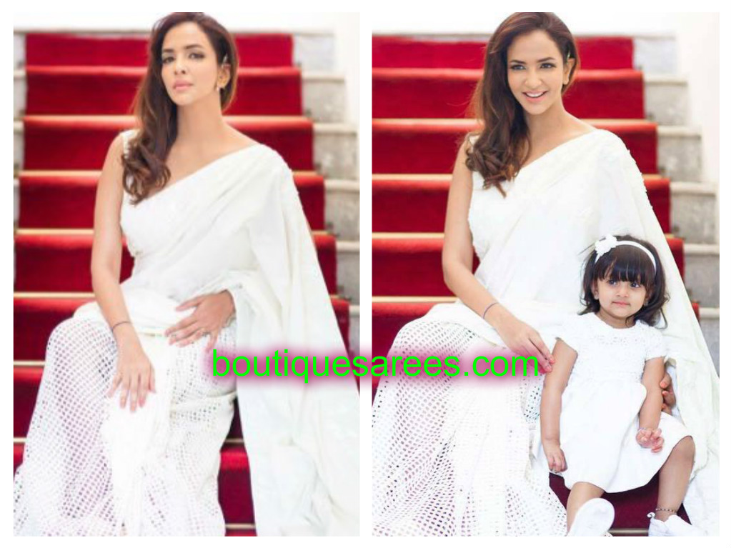 lakshmi manchu in white sari