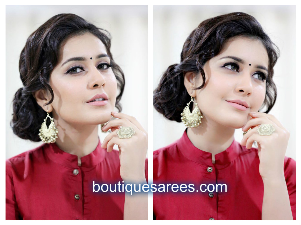 rashi khanna in mint blush dress