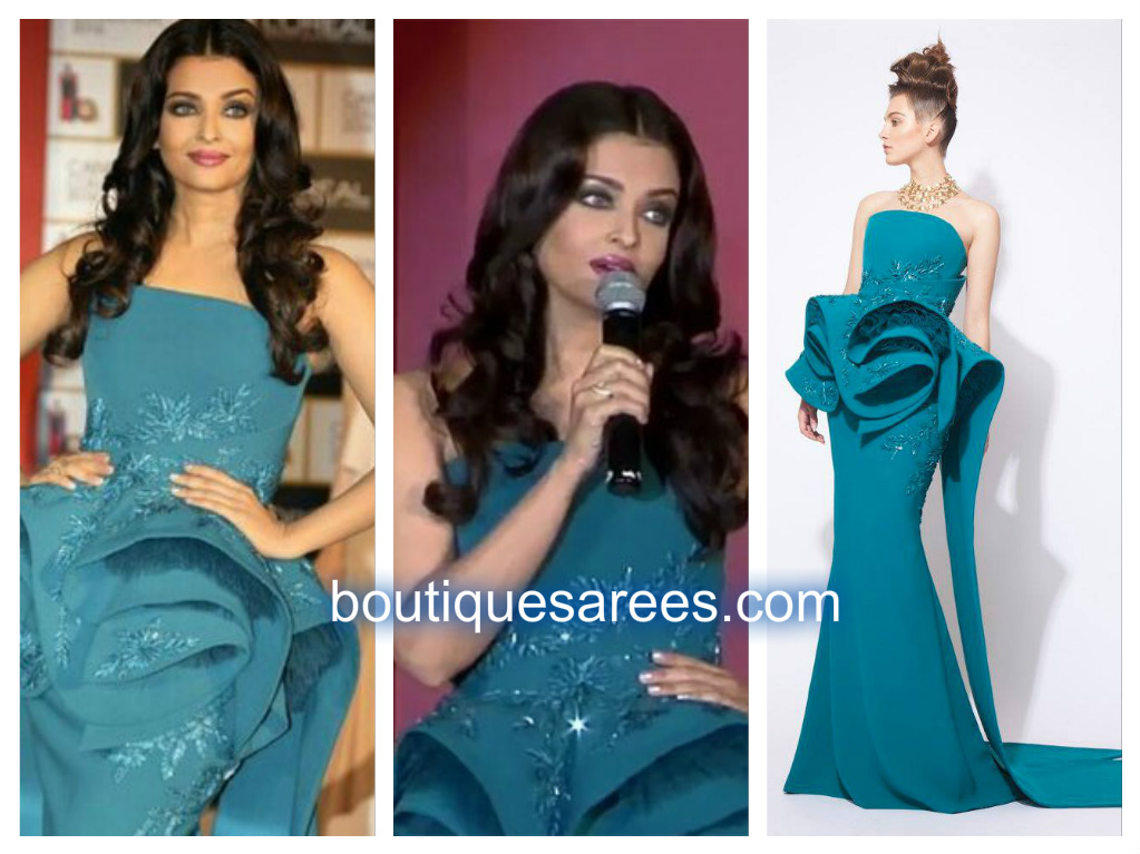 aish in long gown