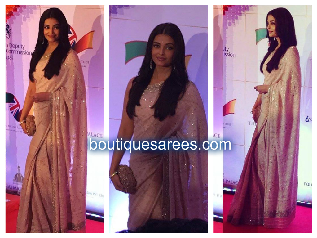 aishwarya in manish malhotra saree