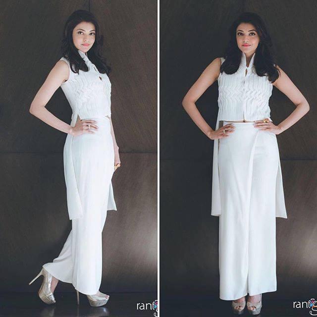 kajal in white dress