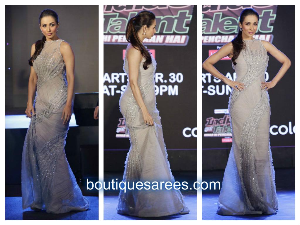 malaika in long gown