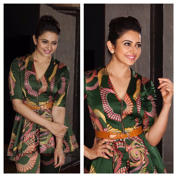 rakul in green dress
