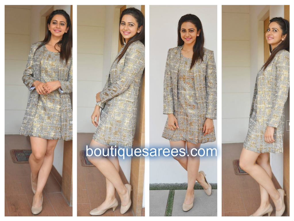 rakul in land of august dress