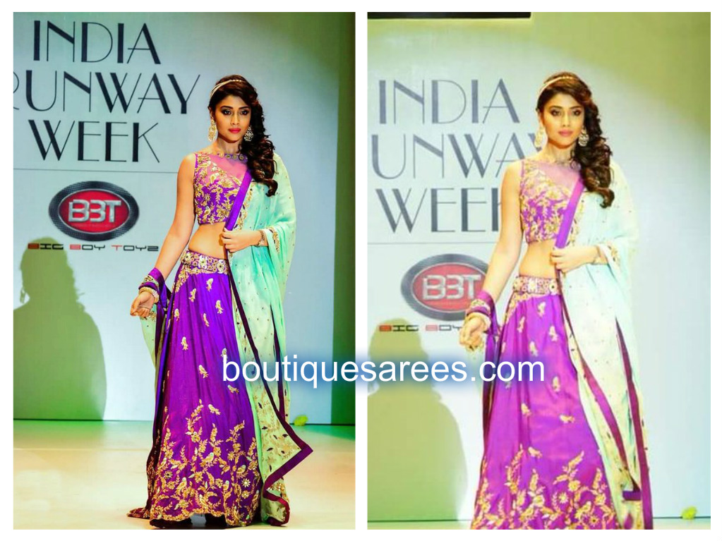 shriya in archita embroidery lehenga