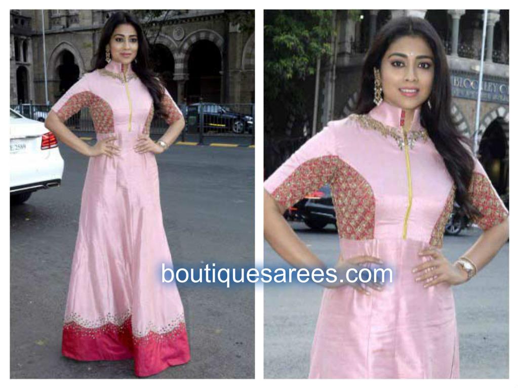 shriya in pink salwar kameez