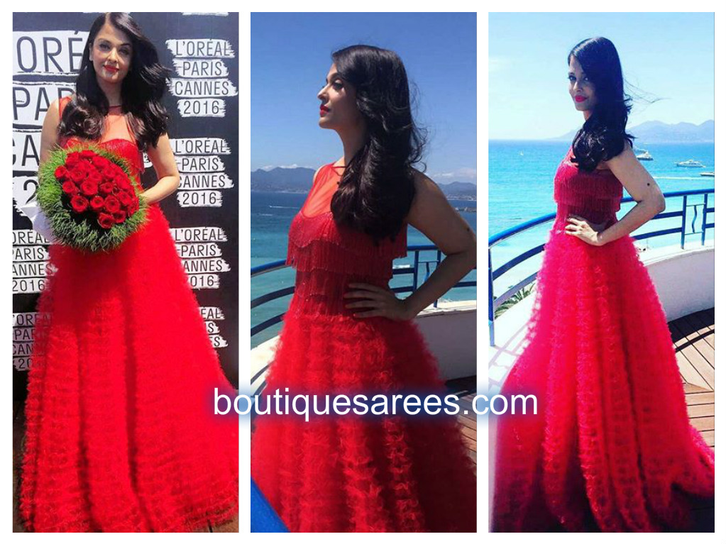 aisa in red dress
