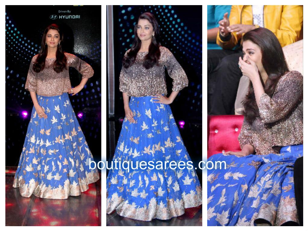 aishwarya rai blue lehenga