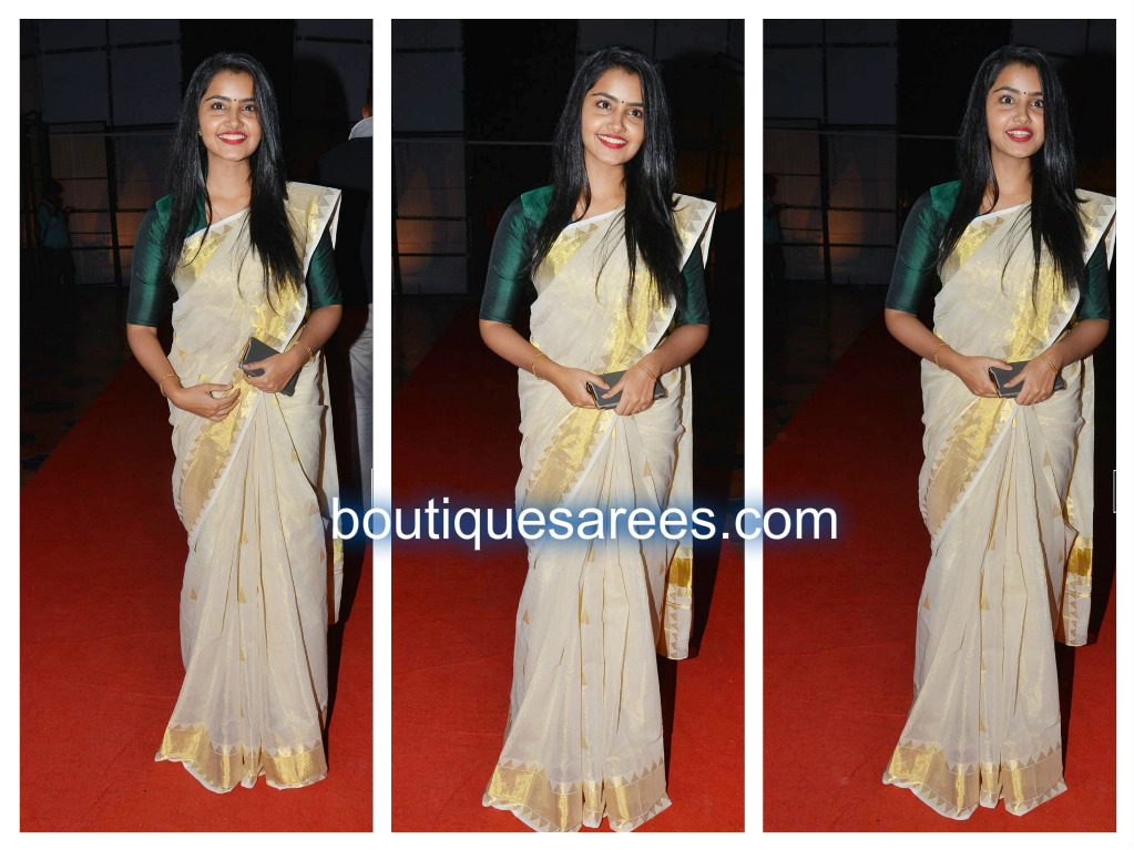 anupama in white saree