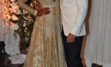 bipasha basu in sabyasachi at her wedding reception