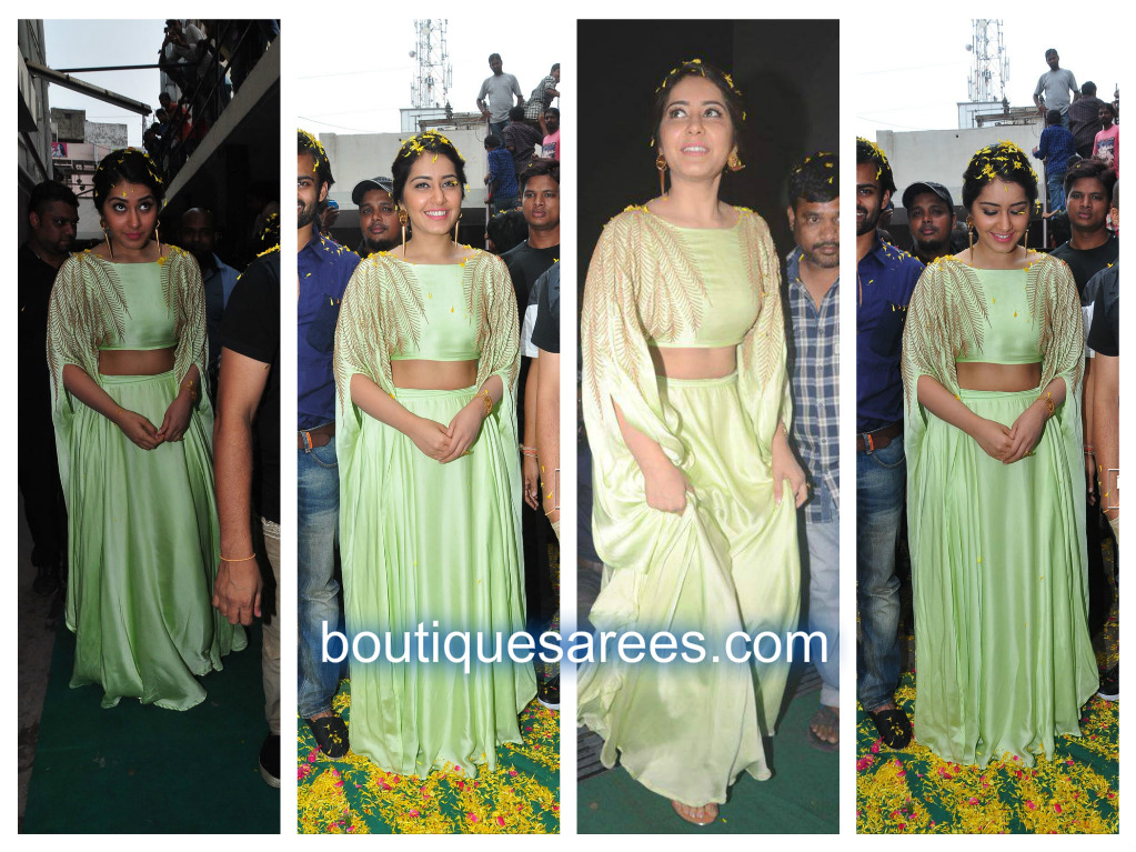 raashi khanna in green lehenga