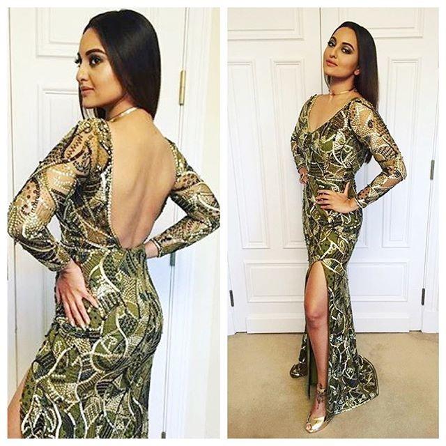 Sonakshi Sinha At IIFA Rocks 2016 dress