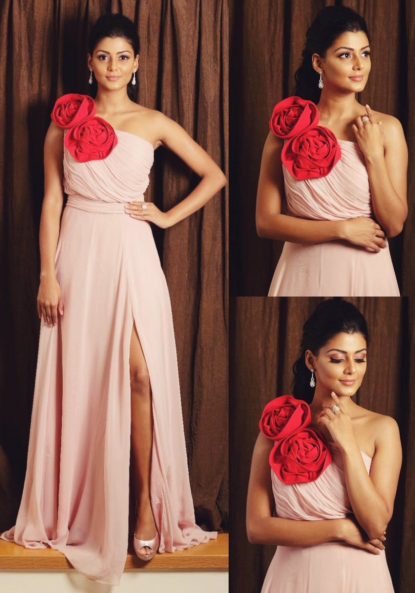 anisha ambrose in pink gown