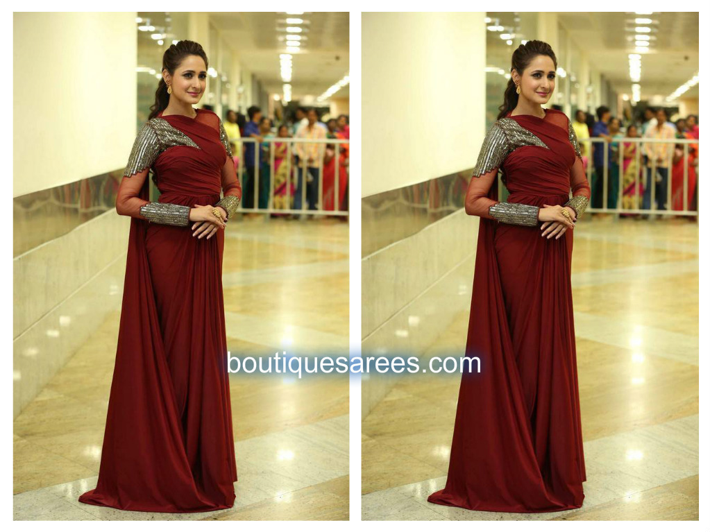 pragya jaiswal in saree gown