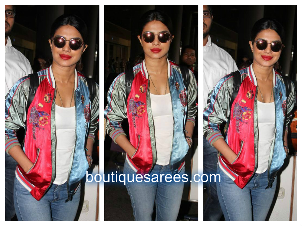 priyanka air port looks