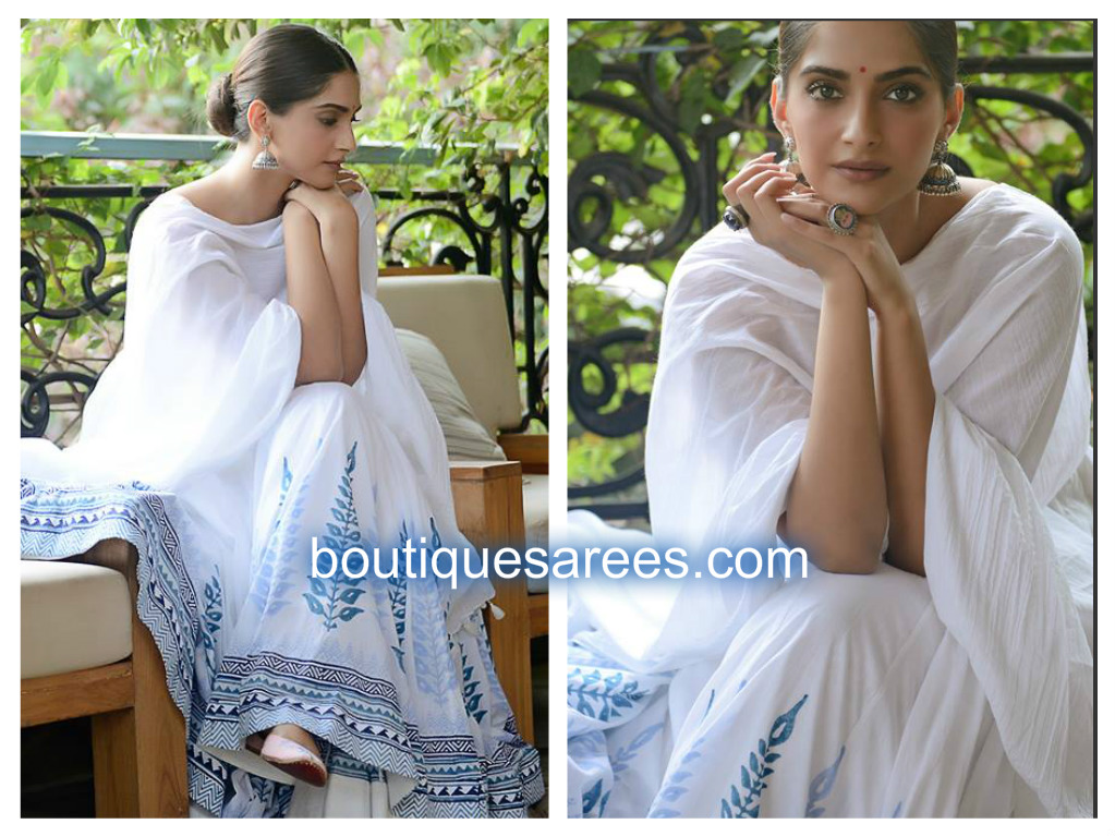 sonam kapoor in grass root by anita dongre