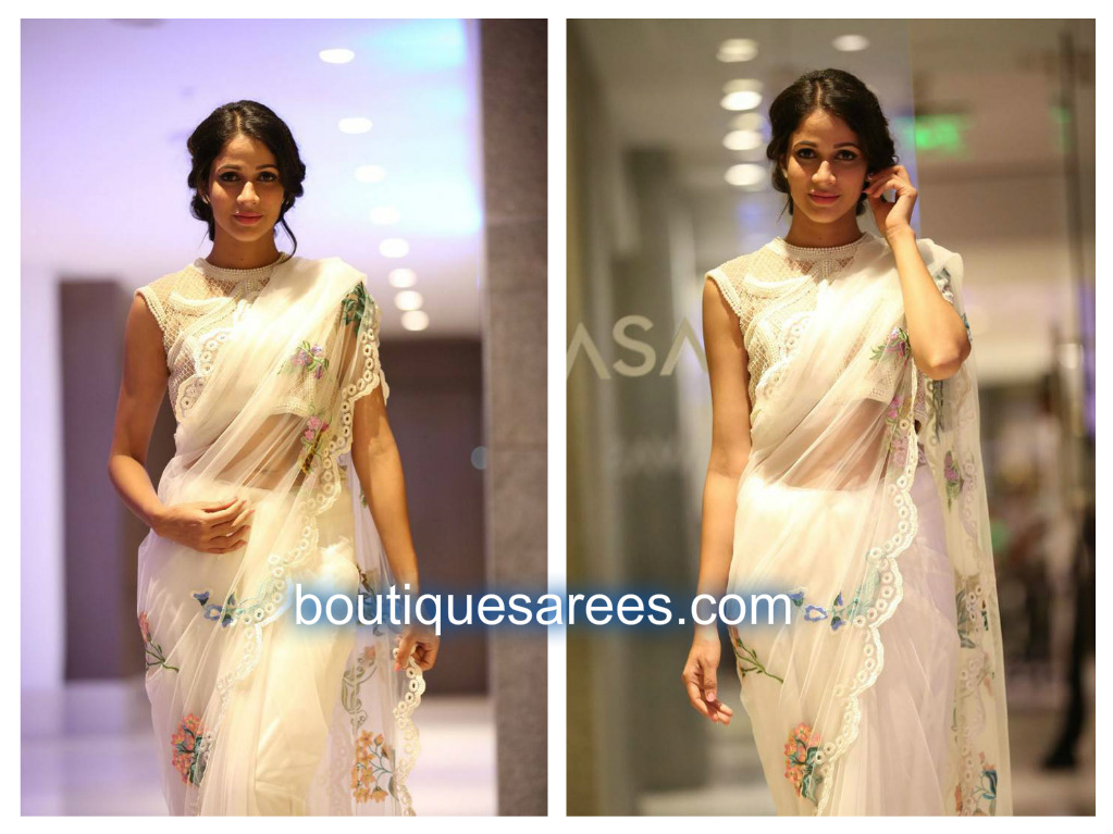 lavanya tripathi in white sares