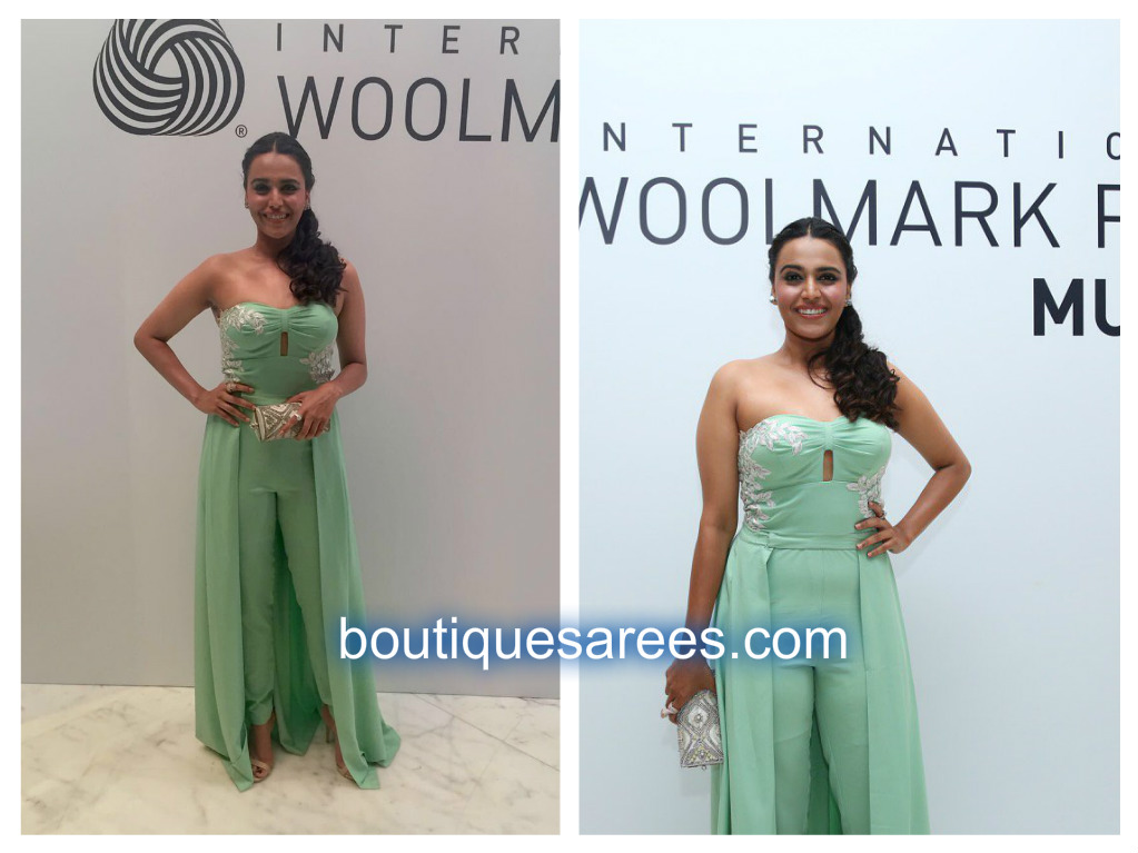 swara bhaskar in strapless dress