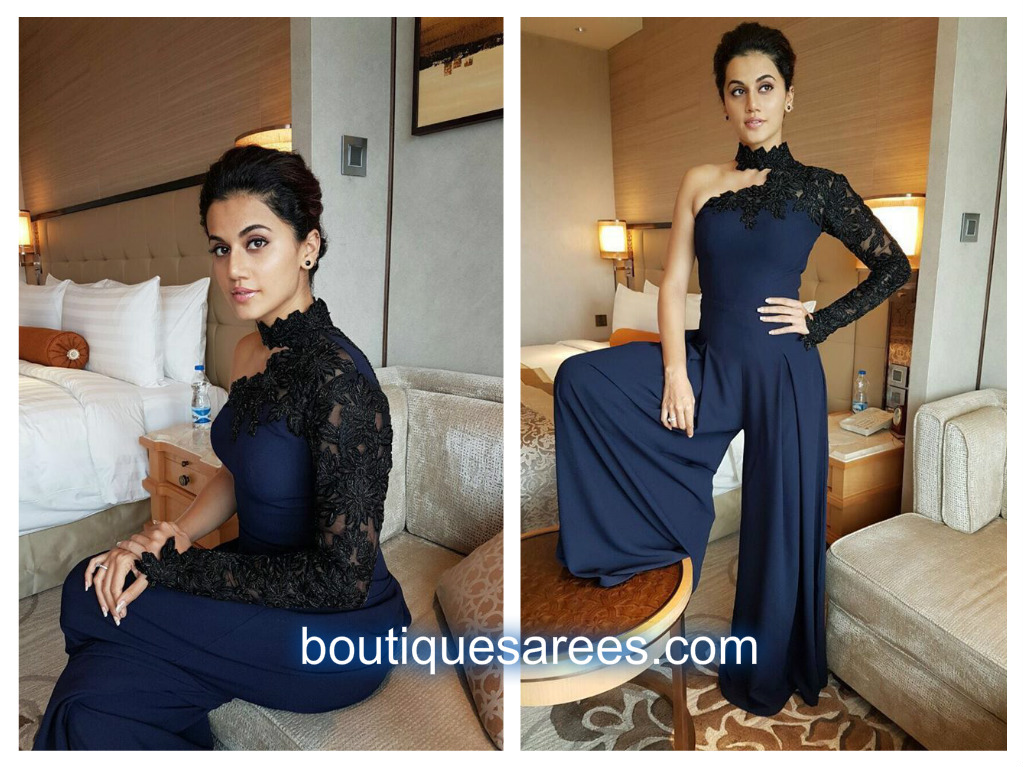 tapsee in blue dress