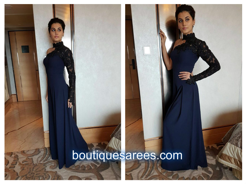 tapsee in blue dresses