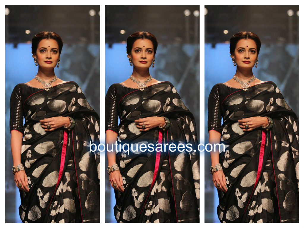 diya mirza in silk saree