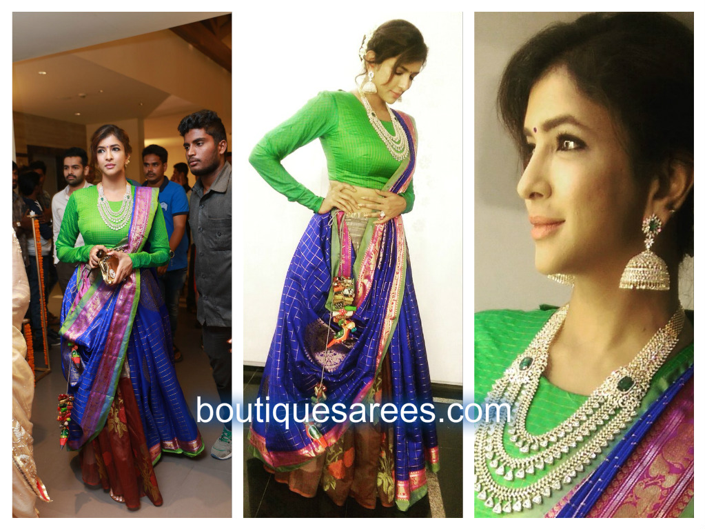 lak in silk saree