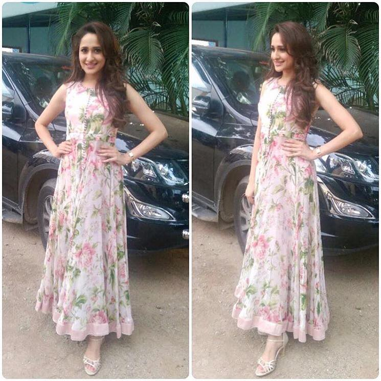 pragya jaiswal in anushree reddy anarkali