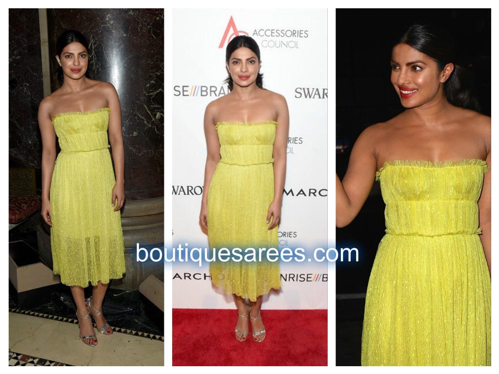 priyanka in yellow dress