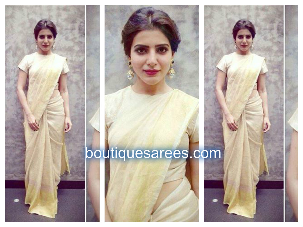 samantha in anvila saree