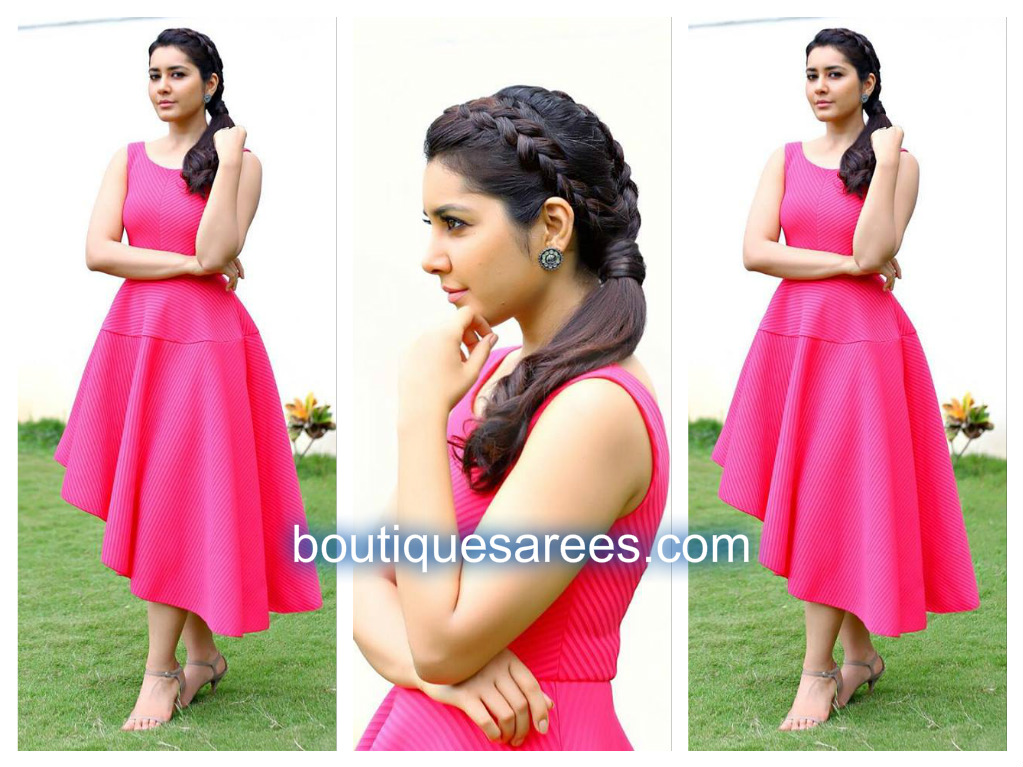 raashi-in-pink-dress