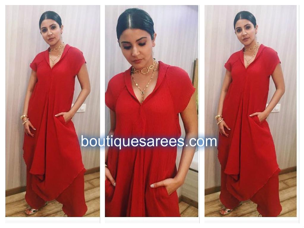 anushka-sharma-in-red-dress