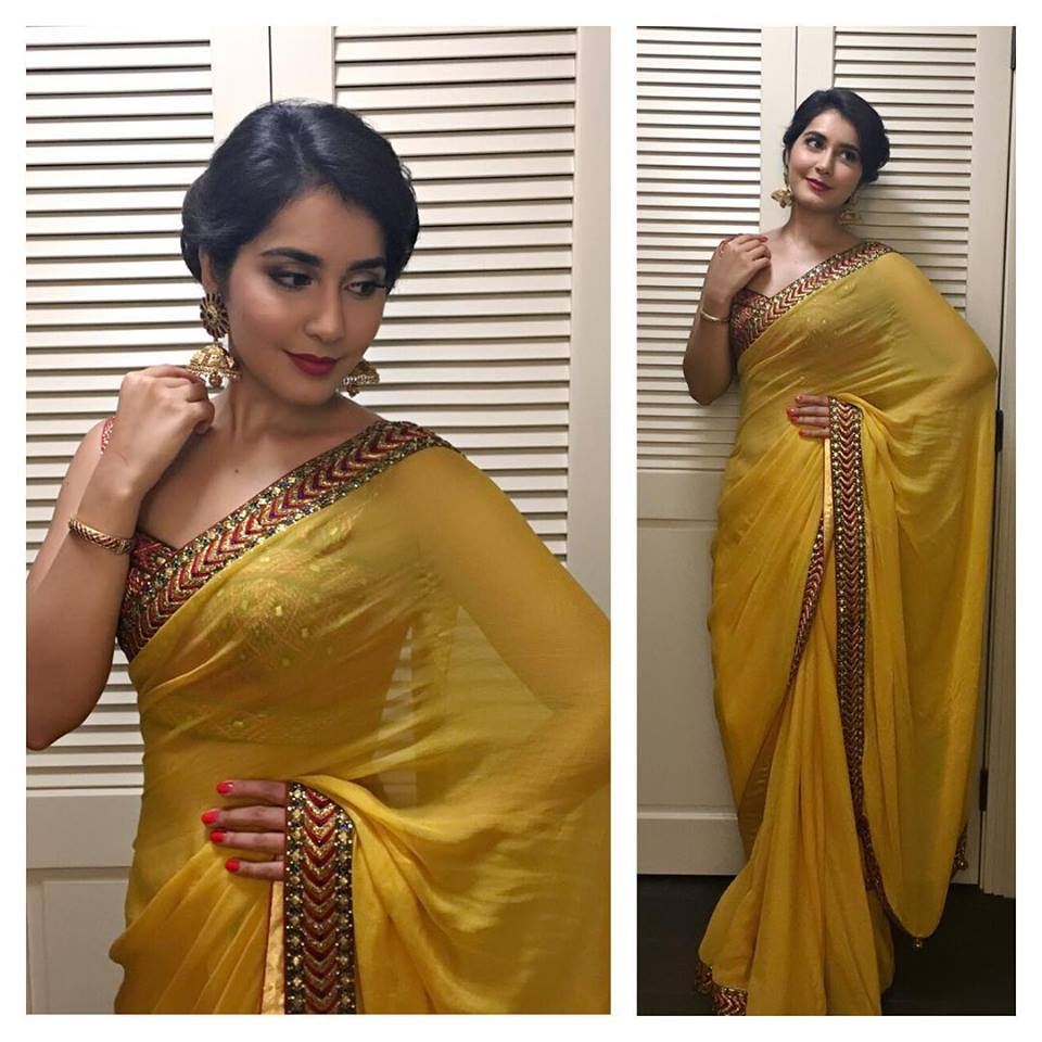 raashi-khanna-in-shilpa-reddy-saree
