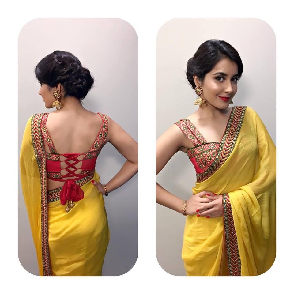 raashi-khanna-in-shilpa-reddy-sari