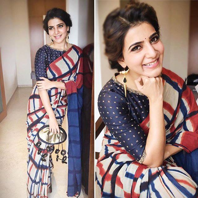 samatha-in-resha-saree