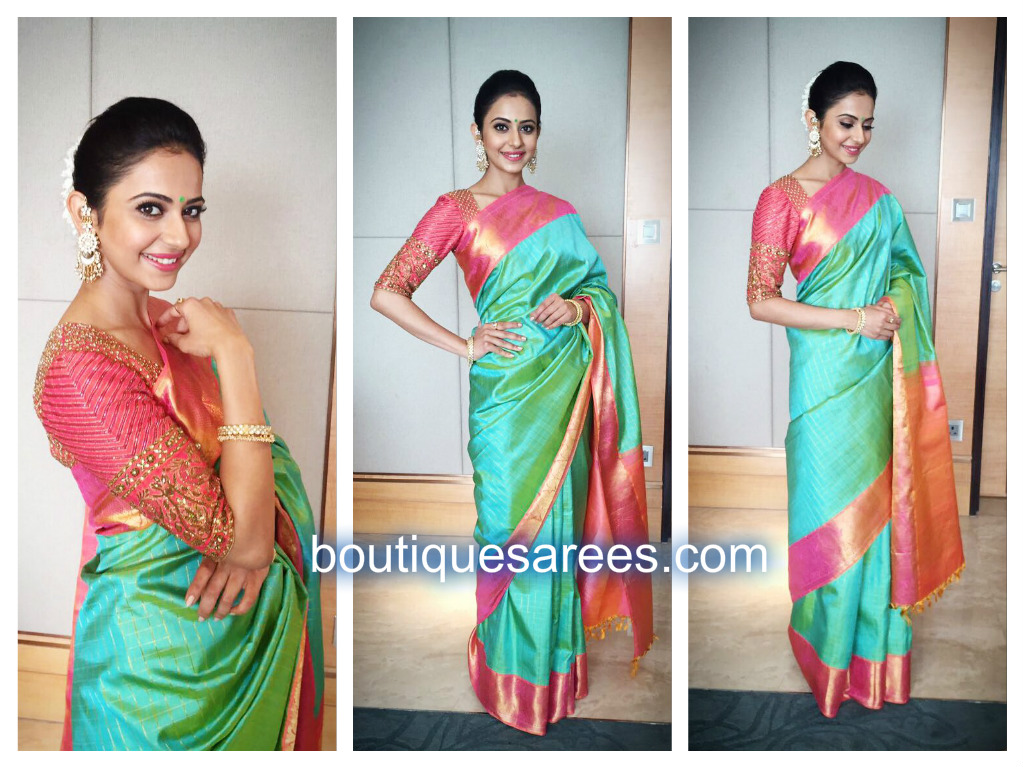 rakul-in-bhargavi-kunam-silk-saree