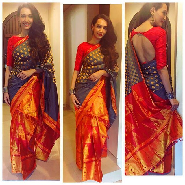 Dipannita Sharma in Sanjukta Dutta silk saree ...