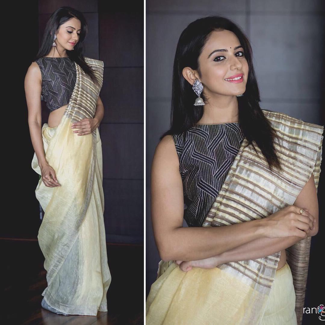 Rakul Preet Singh In Soumitra Mondal Saree Boutiquesarees Com