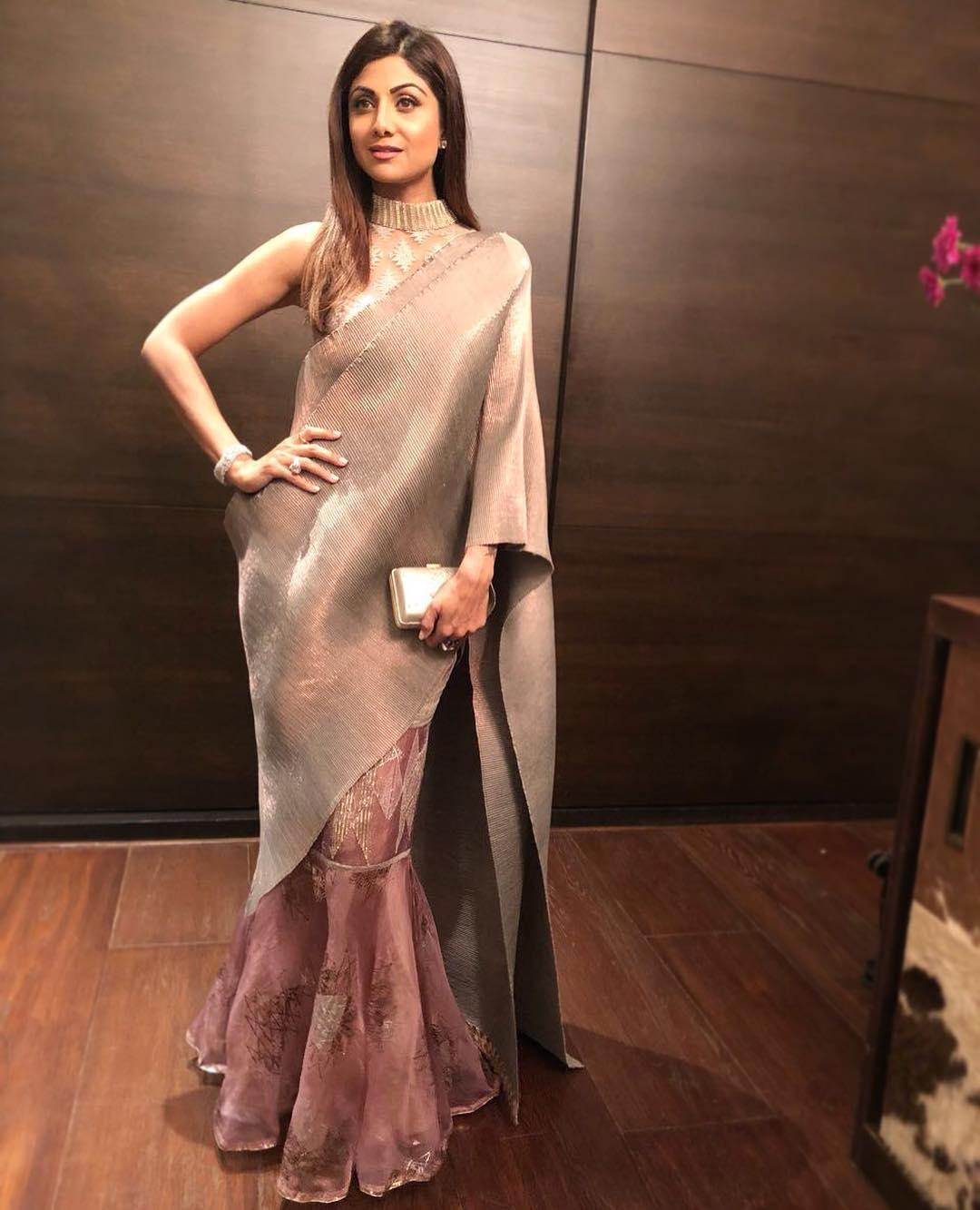 Shilpa Shetty In Kiran Uttam Ghosh Boutiquesarees Com