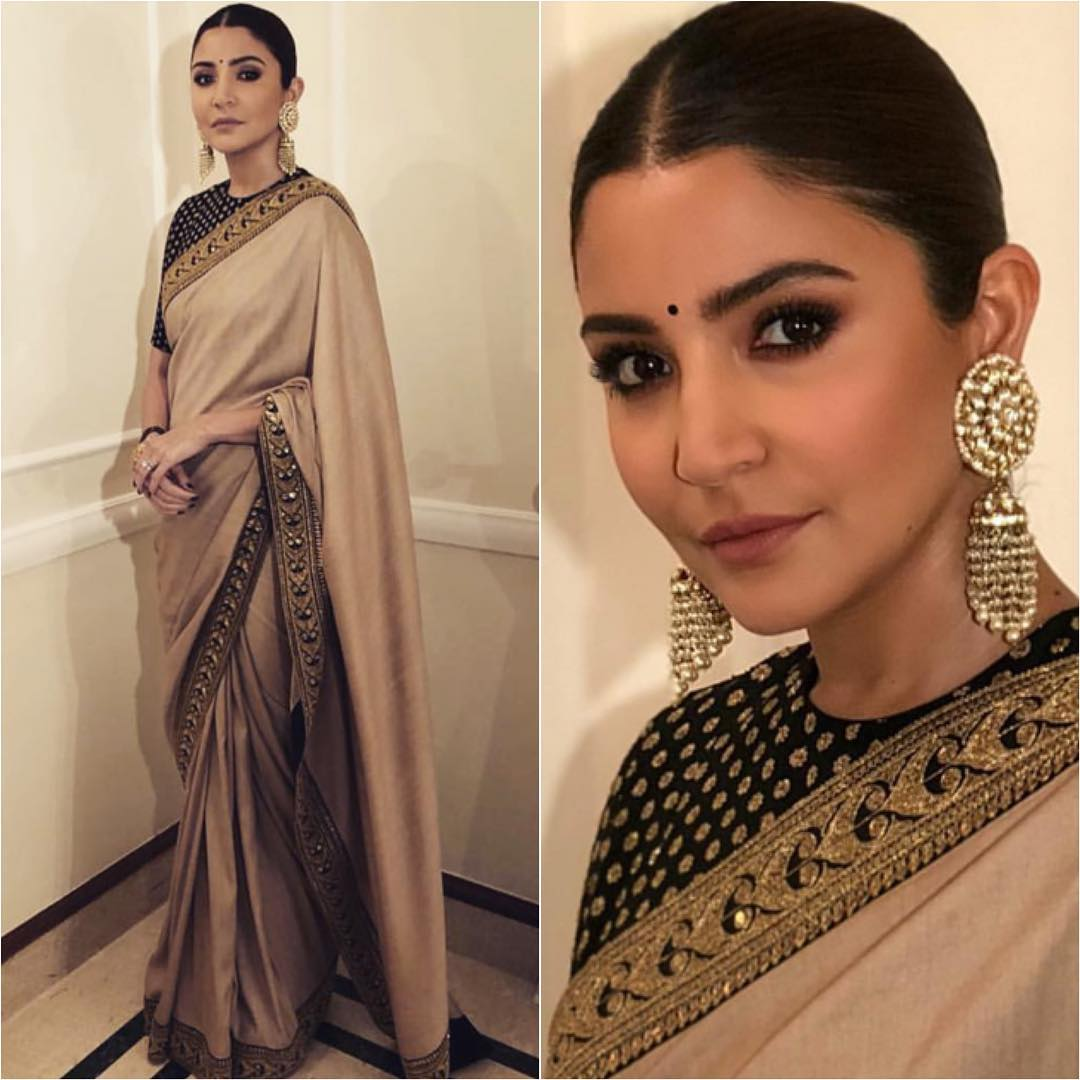 Image result for anushka sharma in saree