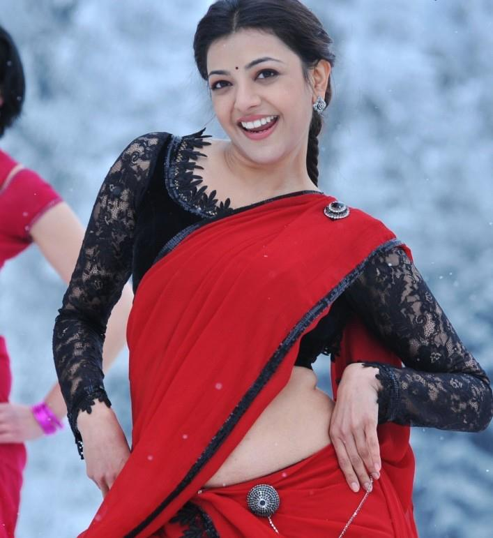 kajal in latest party wear half saree